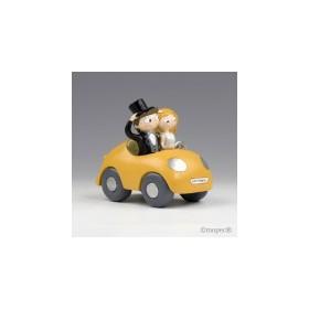 Figura pastel novios Pop & Fun en coche 16cm