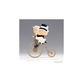 Figura pastel metal Pit &Pita ciclo antiguo 24cm