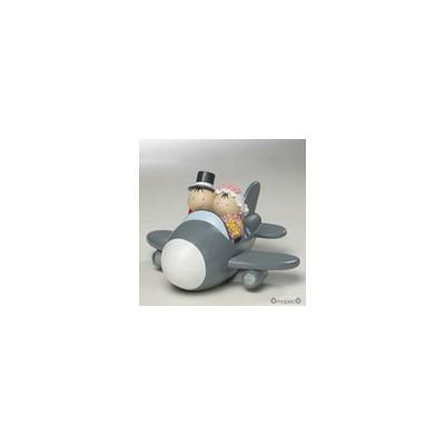 Figura pastel-hucha novios Pit&Pita avión 11cm