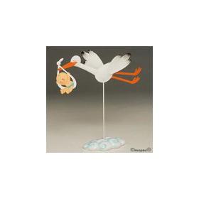 Figura pastel metal Pit cigueña con hatillo 29cm