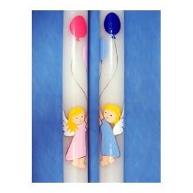 Cirio pintado ángel con globos