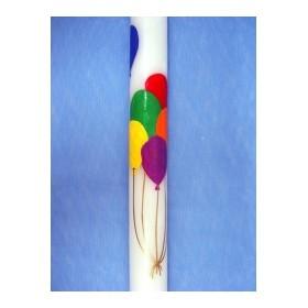 Cirio pintado 6 globos