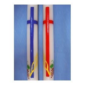 Cirio pintado cruz,espigas,uva
