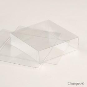 Tapa transparente 7x7x2cm. min.25