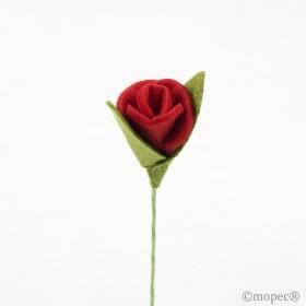 Rosa roja fieltro, 13,5cm, min.12