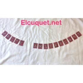 Guirnalda de papel hecha a mano
