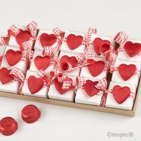 Expositor 15 cajitas 2 bombones S.Valentín corazón*