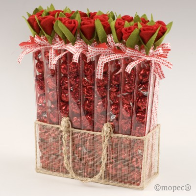 Expositor 27 estuche rosa y cinta corazones 7 croki-chock*