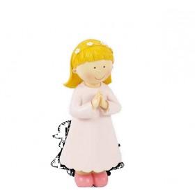 Niña comunión vestido rosa 16cm