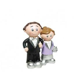 Novios bodas de plata de la mano