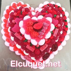 Pastel relieve corazon grande