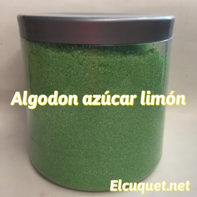 Algodón azúcar limón