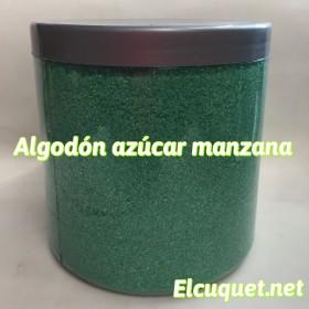 Algodón azúcar manzana