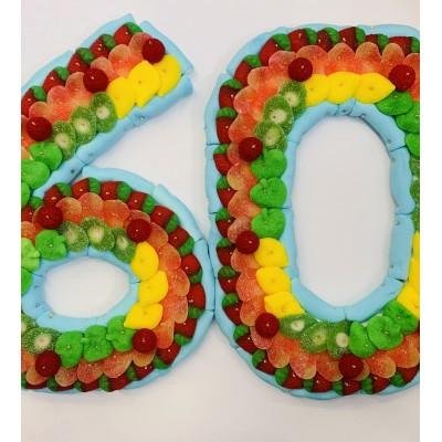 Tarta chuches número 60 grande