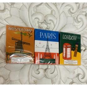 Lápices chocolate ciudades