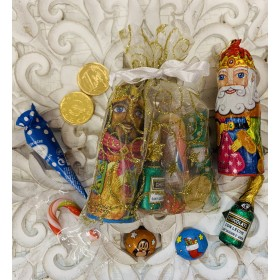 Bolsa estrellas doradas Reyes con chocolates