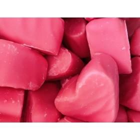Corazón cobertura fresa pack de 12 unidades