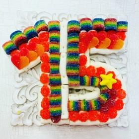 Tarta chuches número 15 mini