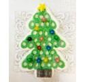 Campanas de praliné y chocolate Navidad rojas